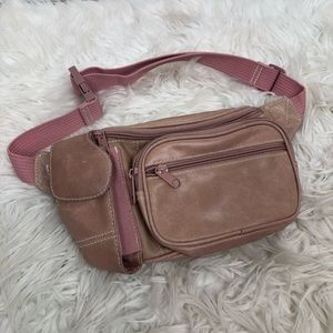 Vintage Wilson's leather pink fanny pack